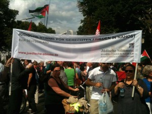 Berlin für Gaza, Demonstration vor Axel-Springer-Haus am 9.8.14_4++