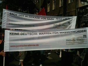 Berlin für Gaza, Demonstration vor Axel-Springer-Haus am 9.8.14_5++
