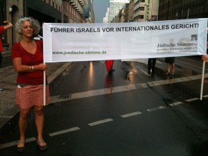 Berlin für Gaza, Demonstration vor Axel-Springer-Haus am 9.8.14_6++